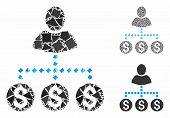 User Payments Mosaic Of Irregular Parts In Various Sizes And Shades, Based On User Payments Icon. Ve poster