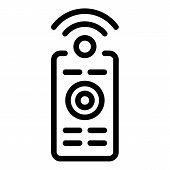 Smart Home Remote Control Icon. Outline Smart Home Remote Control Vector Icon For Web Design Isolate poster