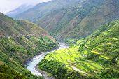 stock photo of luzon  - Rice terrace in Cordillera mountains Luzon Philippines - JPG