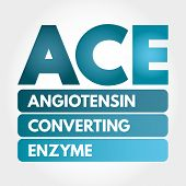 Ace - Angiotensin Converting Enzyme Acronym, Concept Background poster