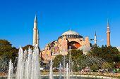 Постер, плакат: Собор Святой Софии в Стамбуле Турция