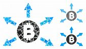 Bitcoin Emission Composition Of Unequal Parts In Different Sizes And Color Tinges, Based On Bitcoin  poster