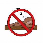 Sloth No Laziness. Do Not Sleep. Isolated Stock Vector Illustration poster