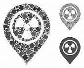 Radioactive Marker Mosaic Of Uneven Parts In Various Sizes And Color Tinges, Based On Radioactive Ma poster