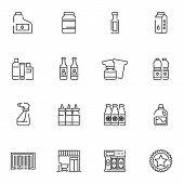 Shopping Line Icons Set. Linear Style Symbols Collection, Outline Signs Pack. Vector Graphics. Set I poster