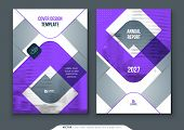 Violet Brochure Design. A4 Cover Template For Brochure, Report, Catalog, Magazine. Brochure Layout W poster