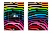 Set Design Poster In Color Rainbow. Stripes On Black Background. Vertical Abstract Graphic Backgroun poster