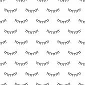 Abstract Seamless Eyes Pattern For Girls, Boys. Creative Vector Pattern With Psychodelic Eyes. Funny poster
