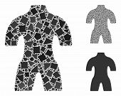 Body Mosaic Of Humpy Elements In Various Sizes And Color Hues, Based On Body Icon. Vector Humpy Item poster