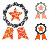 Certification Seal Composition Of Joggly Items In Different Sizes And Color Tinges, Based On Certifi poster