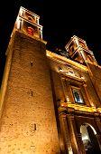 pic of conquistadors  - Iglesia de Plaza Mayor in Valladolid Mexico Yucatan - JPG