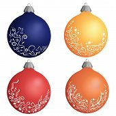 Colorful Christmas Balls Vector Icons Set Collection . Set Christmas Decorations. New Year Toys Ball poster