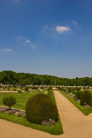 stock photo of poitiers  - Magnificent garden of Diane de Poitiers  - JPG