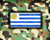 image of ami  - Amy camouflage uniform with flag on it Uruguay - JPG