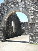 picture of safe haven  - This is another view of door and window arches used in construction of the historic Trial Bay Gaol which is now preserved as the ruins of this old structure - JPG