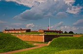 Inside Fort McHenry, Baltimore, MD.