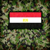 image of ami  - Amy camouflage uniform with flag on it Egypt - JPG