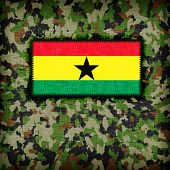 pic of ami  - Amy camouflage uniform with flag on it Ghana - JPG