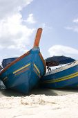 stock photo of langkawi  - Boats on a beach at Langkawi, Malaysia.