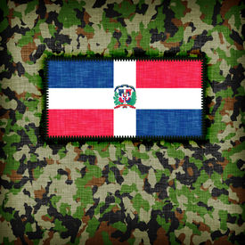 image of ami  - Amy camouflage uniform with flag on it The Dominican Republic - JPG