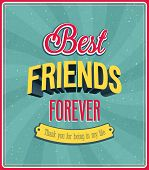 foto of  friends forever  - Best friends forever typographic design - JPG