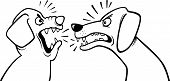 Angry Barking Dogs Coloring Page