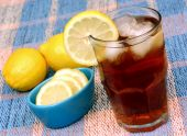Ice Tea With Lemon Slice