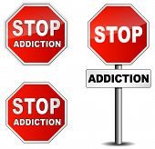 image of crack addiction  - Vector stop addiction sign on white background - JPG