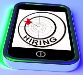 Hiring Smartphone Means Online Recruitment For Job Position