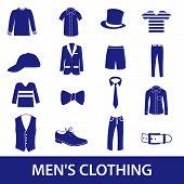 mens clothing icon set eps10