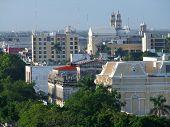 image of yucatan  - High angle view of Merida in Yucatan Mexico - JPG