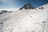 picture of jade blue  - Top Of Jade Dragon Snow Mountain Near Lijiang In Yunnan Province - JPG