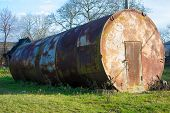 Large Metal Barrel