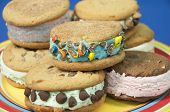 foto of snickers  - these are ice cream cookie sandwiches that are rolled in candy pieces