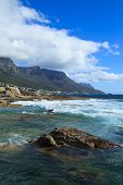 Beautiful Camps Bay Beach And Twelve Apostles Mountain Chain, Cape Town, South Africa.