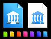 Justice Icons on Colorful Paper Document Collection