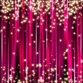 foto of christmas party  - Sparkle glitter stars on pink stripe background - JPG