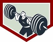 stock photo of strongman  - Illustration of a weightlifter athlete muscle - JPG