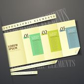 3D Yellow Paper Label Infographic Elements