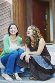 foto of chums  - Young women laughing together - JPG