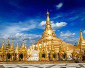 image of yangon  - Myanmer famous sacred place and tourist attraction landmark  - JPG