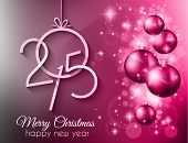 picture of merry  - 2015 Merry Christmas and happy new year background with a lot of glitter and colorful lights - JPG