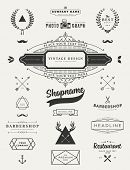 pic of classic art  - Set of Retro Vintage Insignias and Logotypes - JPG