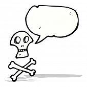 foto of skull crossbones  - skull and crossbones symbol with speech bubble - JPG