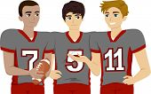 picture of jock  - Illustration Featuring a Group of Male Teens Wearing Football Uniform - JPG