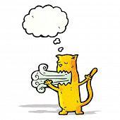 stock photo of belching  - burping cat cartoon - JPG