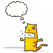 stock photo of belching  - cartoon burping cat - JPG