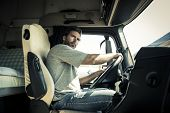 foto of adults only  - Portrait of a truck driver - JPG