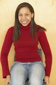 picture of pre-adolescent girl  - Portrait of African teenaged girl - JPG
