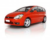 image of car carrier  - Red 3D Car - JPG